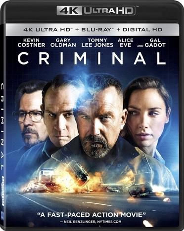 Criminal (2016) 4K Ultra HD Blu-ray UHD