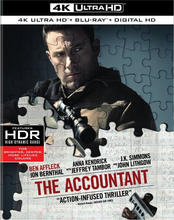 The Accountant 4K (2016) Ultra HD Blu-ray