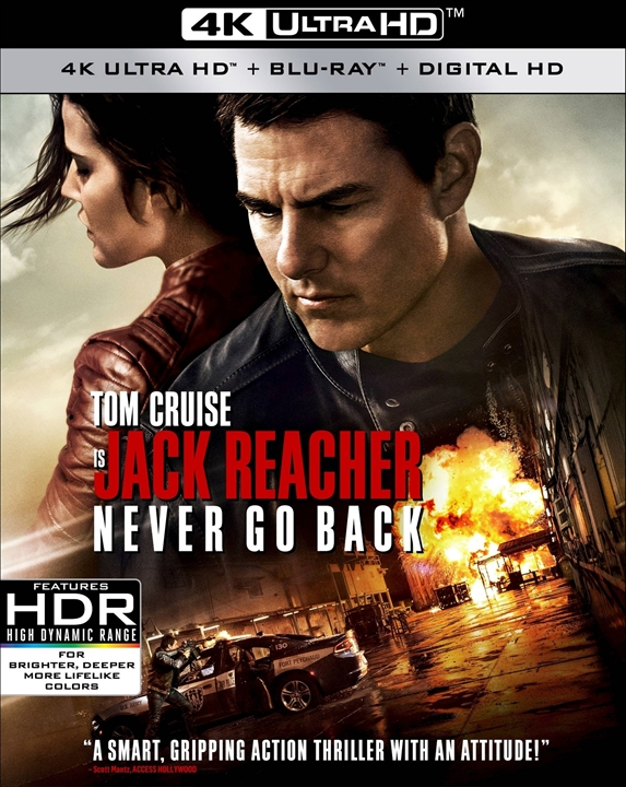 Jack Reacher: Never Go Back 4K (2016 Ultra HD Blu-ray