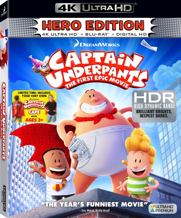 Captain Underpants: The First Epic Movie 4K (2017) UHD Ultra HD Blu-ray
