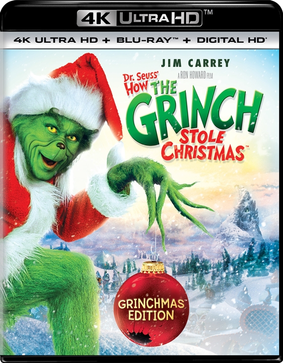 Dr. Seuss How the Grinch Stole Christmas 4K (2000) 4K Ultra HD Blu-ray