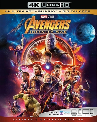 Avengers: Infinity War 4K (2018) Ultra HD Blu-ray