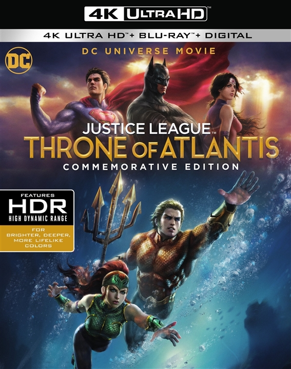 Justice League: Throne of Atlantis 4K (Commemorative Edition)(2015) Ultra HD Blu-ray