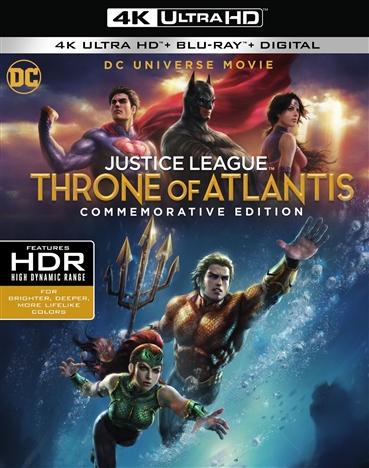 Justice League: Throne of Atlantis 4K (Commemorative Edition)(2015) Ultra HD Blu-ray