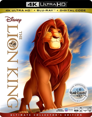 The Lion King 4K (1994) Ultra HD Blu-ray