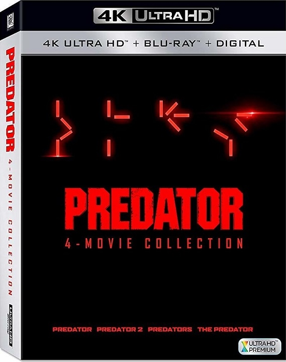 Predator: 4-Movie Collection 4K (1987-2018) Ultra HD Blu-ray