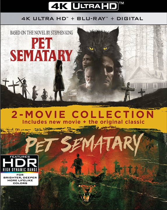 Pet Sematary 2-Movie Collection (1989/2019)(4K Ultra HD Blu-ray)(Pre-order / TBA)