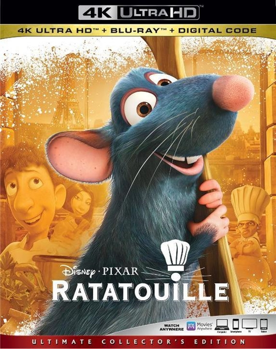 Ratatouille (4K Ultra HD Blu-ray)(Pre-order / Sep 10)