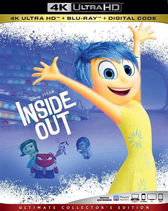 Inside Out (4K Ultra HD Blu-ray)(Pre-order / Sep 10)