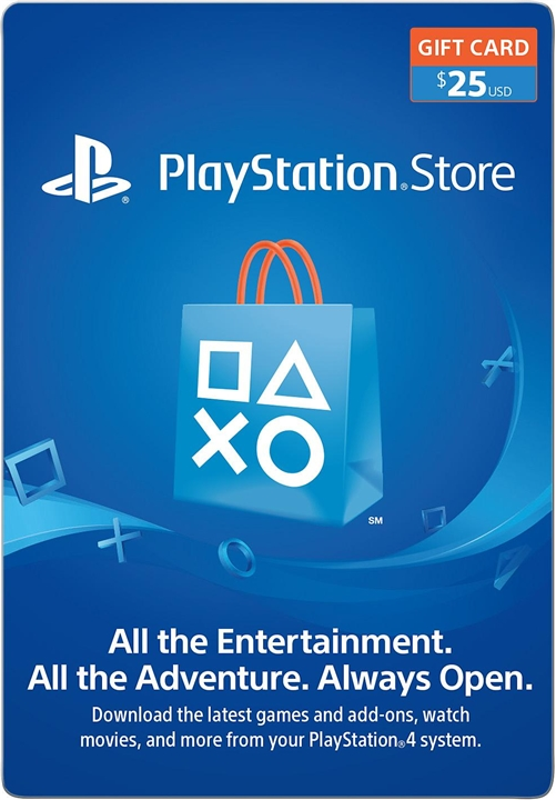 Sony PSN - $25 Playstation Network Card