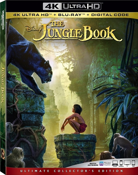 The Jungle Book Live Action 4K Ultra HD Blu ray