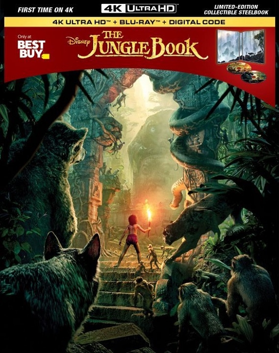 The Jungle Book (Live Action)(SteelBook)(4K Ultra HD Blu-ray)(Pre-order / TBA)