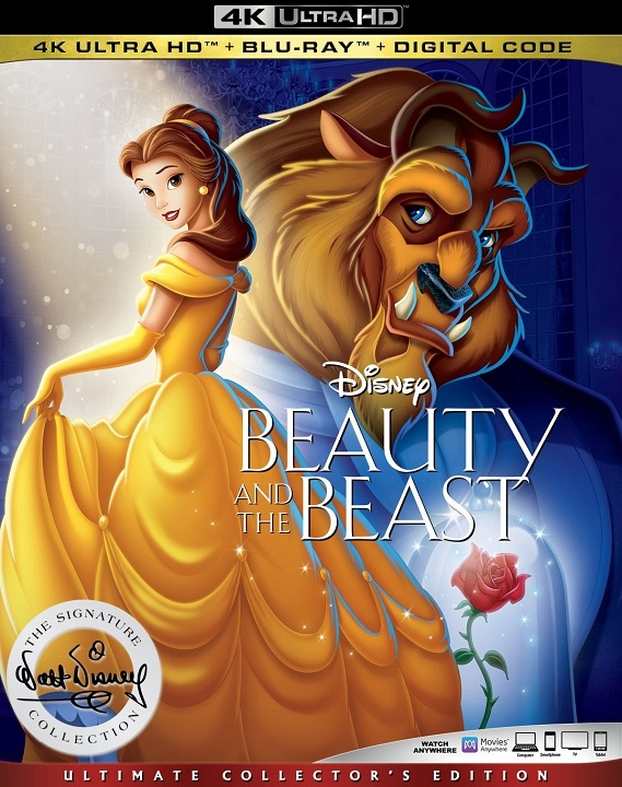 Beauty and the Beast (1991)(4K Ultra HD Blu-ray)(Pre-order / Mar 10)