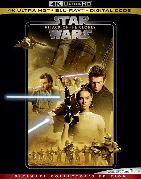 Star Wars Attack of the Clones 4K Ultra HD (2002)