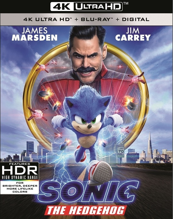 Sonic the Hedgehog in 4K Ultra HD Blu-ray at HD MOVIE SOURCE