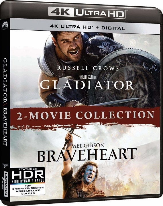 Braveheart / Gladiator (2 Movie Collection)(4K Ultra HD Blu-ray)(Pre-order / Jun 16)