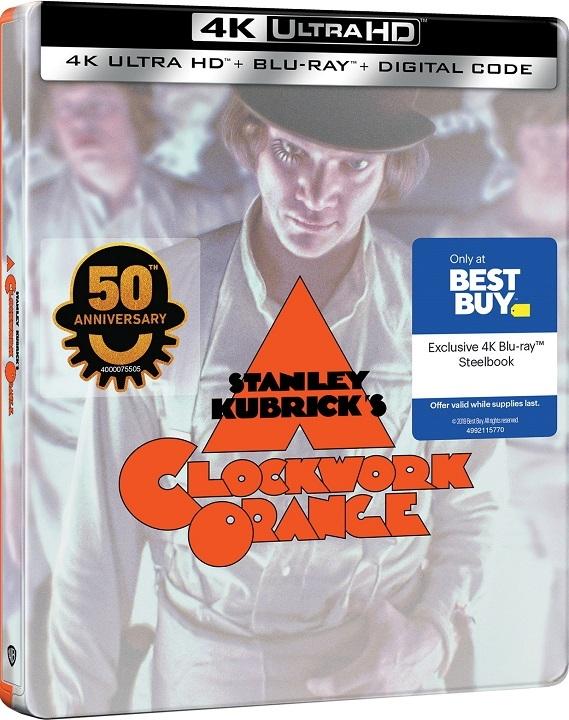 A Clockwork Orange SteelBook in 4K Ultra HD Blu-ray at HD MOVIE SOURCE