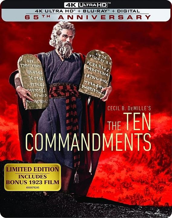 The Ten Commandments SteelBook in 4K Ultra HD Blu-ray at HD MOVIE SOURCE