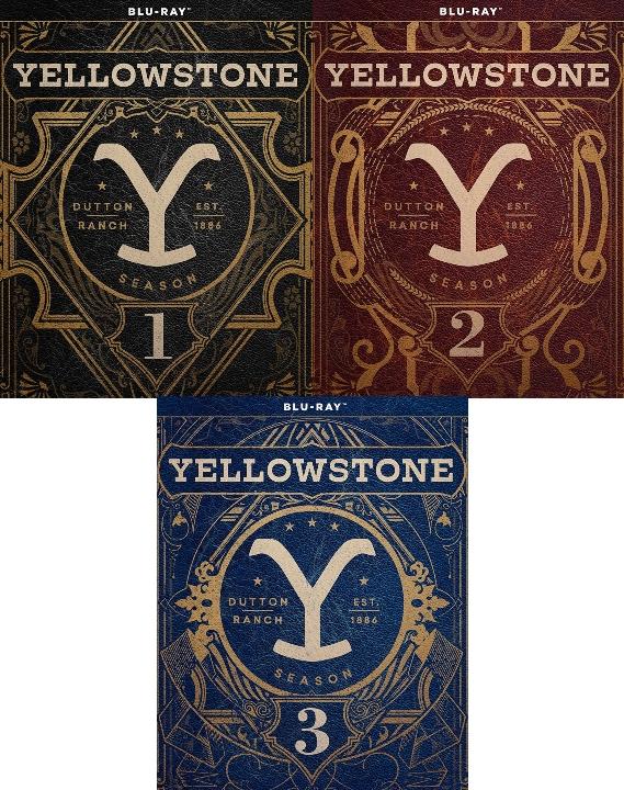 Yellowstone: Season 1, 2 and 3 Blu-ray