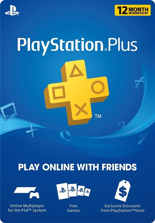 Playstation Plus 12 Month Membership - Sony PSN Cards
