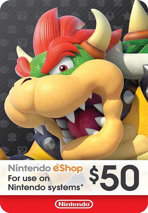 Nintendo eShop Prepaid Card $50